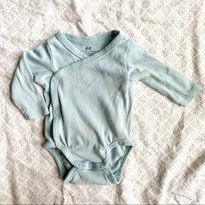Blue Wrapover Bodysuit